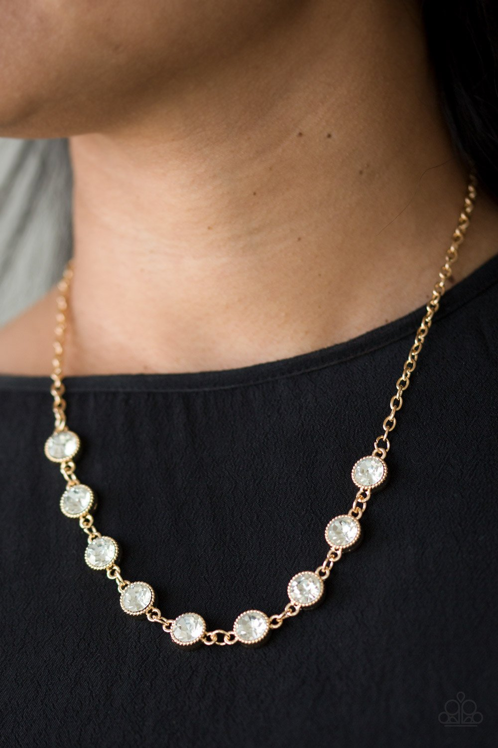 Starlit Socials - gold - Paparazzi necklace