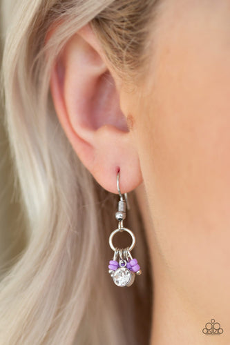 Twinkling Trinkets-purple-Paparazzi earrings