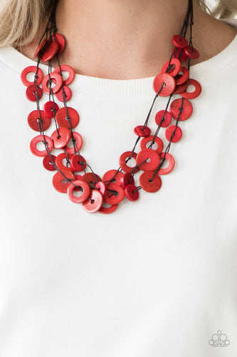 Wonderfully Walla Walla-red-Paparazzi necklace