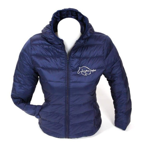 Pro-Confort Ultra Light Down Jacket with Hood - XS / NAVY - Jacket