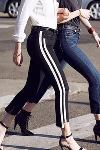 Gigi With The Same Raw Edge Irregular Flare Jeans