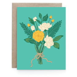 Art & Soul Creative Co - Card - Teal Florals