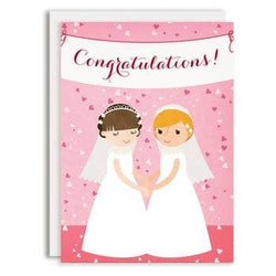 Rosy Designs - Cards - Bride And Bride Just Married