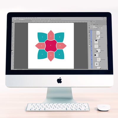 Kaleidoscope 9 Digital Scrapbook Template