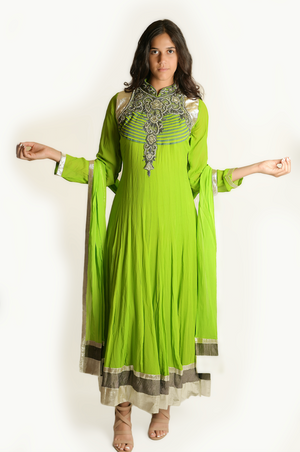 Formal Lime Green Anarkali