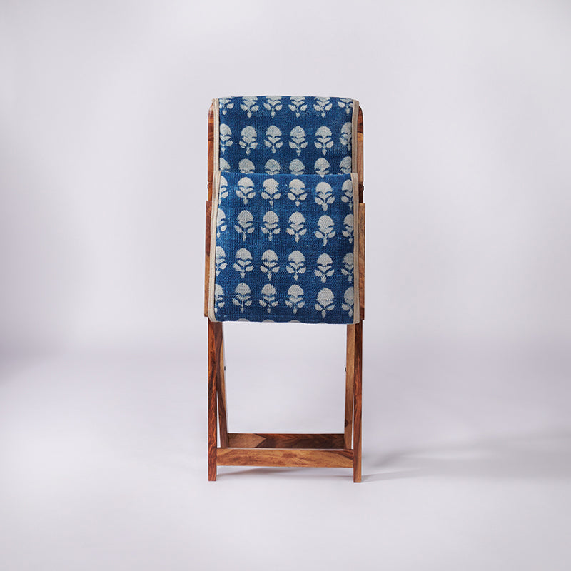Floral Patterned Dhurrie Folding Chair