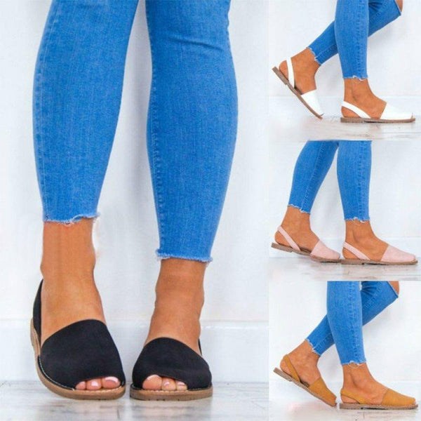 Colors Slip on Espadrilles Flip Flop Peep Toe Sandals