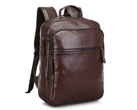 Men Leather Backpack - High Quality