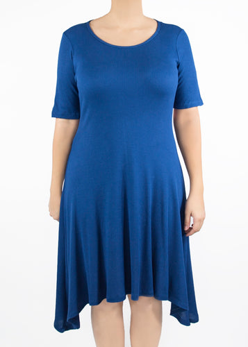 Poppy Dress - Blue - (0X)