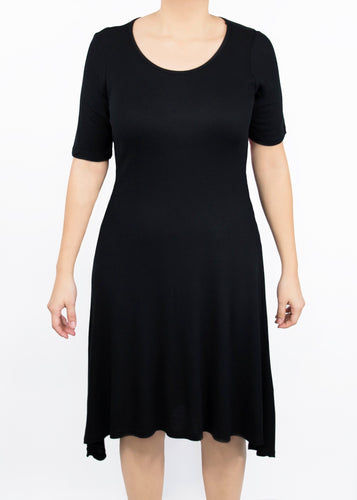 Poppy Dress - Black - (1X)