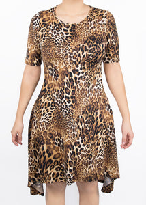 Poppy Dress - Cheetah - (0X)