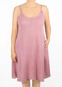 Lily Cami Dress - Mauve - (3X)