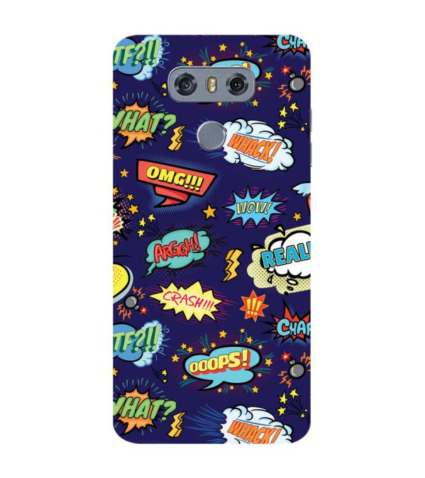 Comic Pattern Back Cover for LG G6