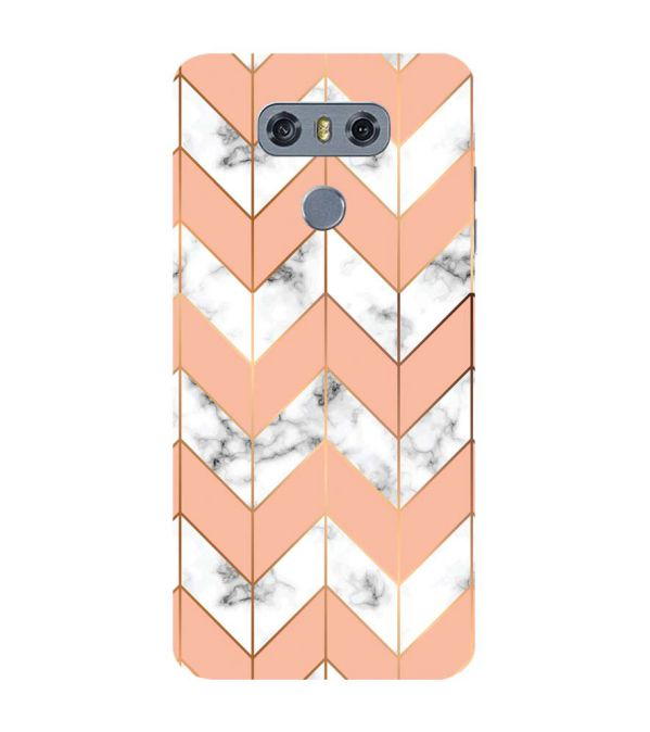 Printed Marble Pattern Back Cover for LG G6