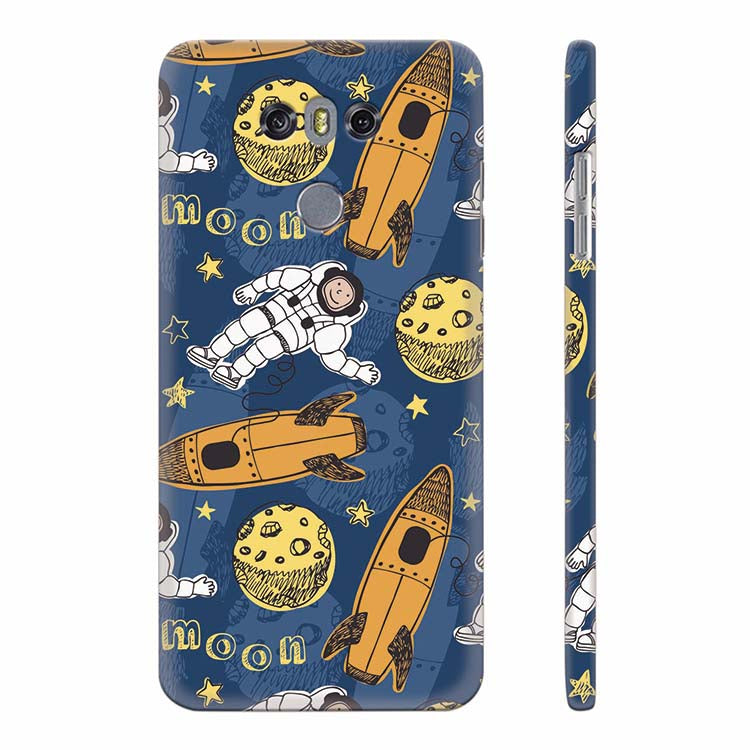 Travel To Moon Back Cover for LG G6