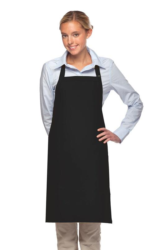 Black 2 Patch Pocket Adjustable Bib Apron