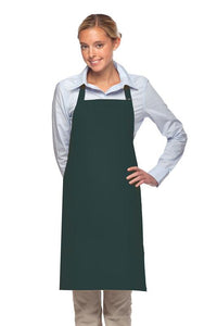 Hunter Green 2 Patch Pocket Adjustable Bib Apron