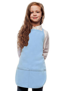 Light Blue Kids 2 Pocket Bib Apron
