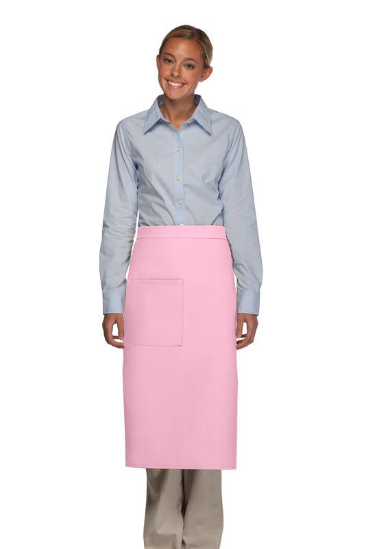 Pink 1 Pocket Full Bistro Apron