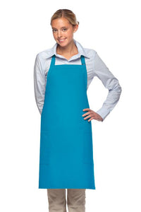 Turquoise 2 Patch Pocket Adjustable Bib Apron