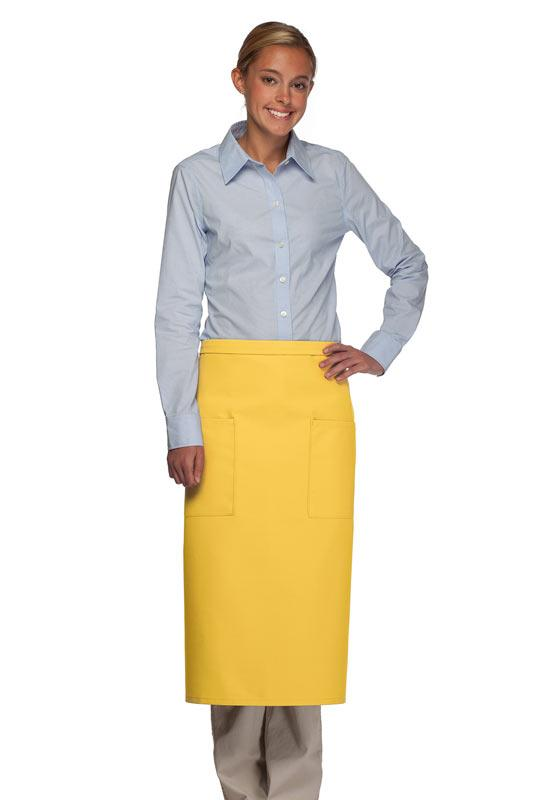 Yellow 2 Patch Pocket Full Bistro Apron