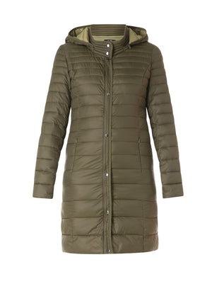 Quilted long jacket Y