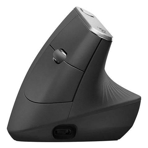 Logitech MX Vertical, Wire and Wireless Bluetooth Advanced Ergonomic Mouse, Black