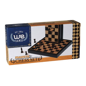 WE Games Travel Wood Magnetic Chess Set – 8 Inch - American Chess Equipment