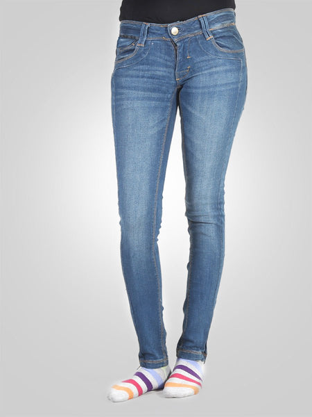 Bottom Zip Skinny Jeans By Pull & Bear