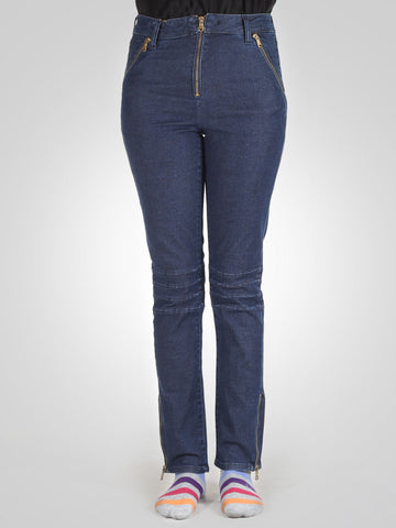 Bottom Zip Skinny Jeans By Springfield