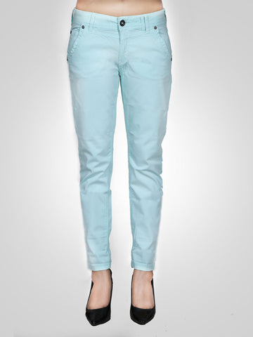 Catchy Pink Cropped Skinny Jeans By Time Zone