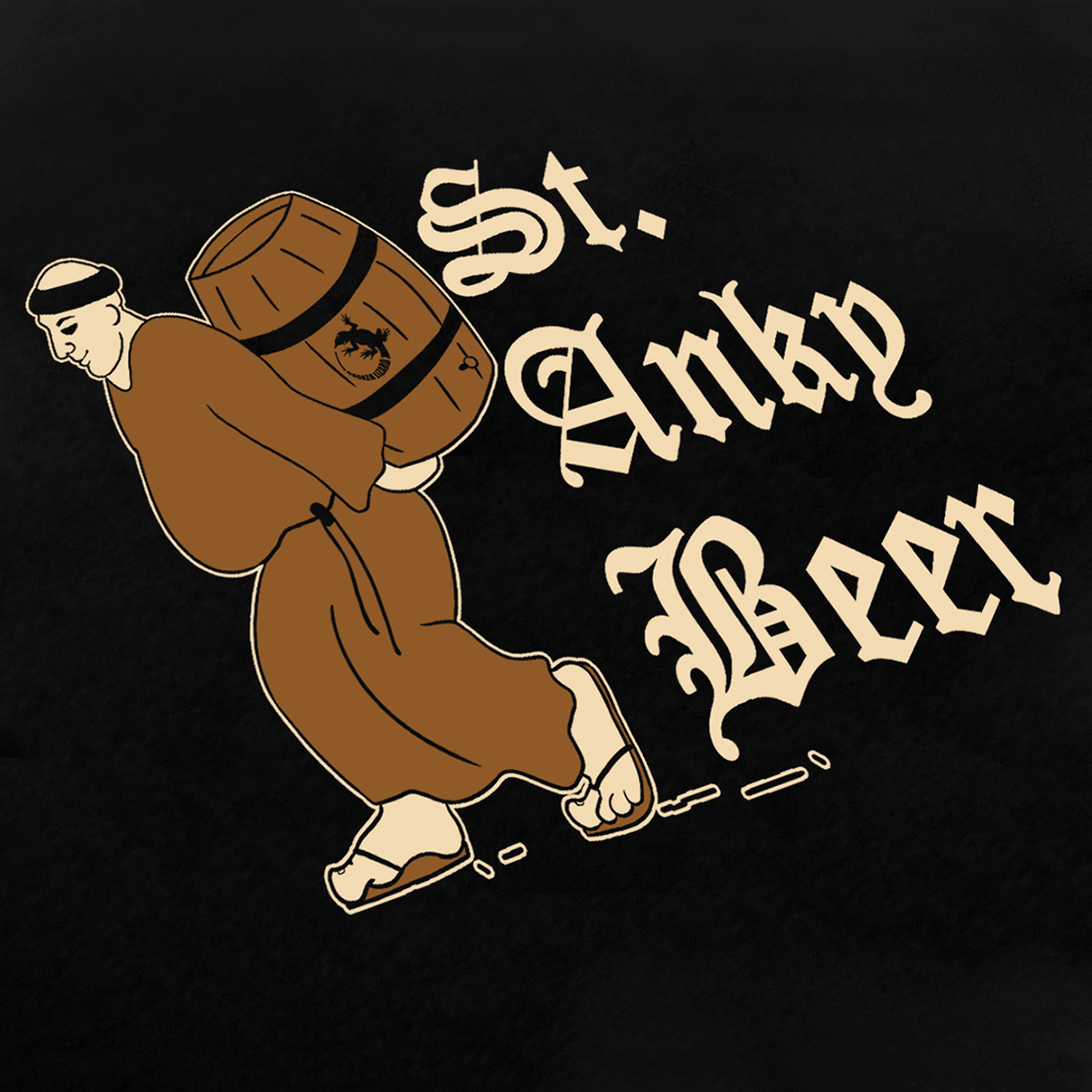 St. Anky Beer Black T-Shirt