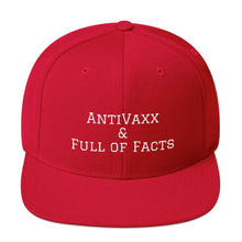 Load image into Gallery viewer, Anti-Vaxx & Full of Facts Snapback Hat