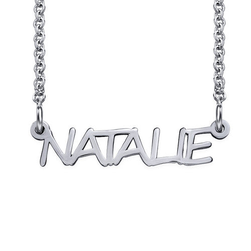 Signature All Capitals Name Necklace