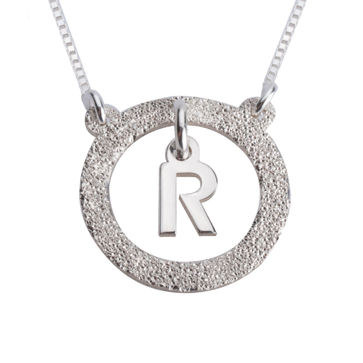 Floating Initial Necklace