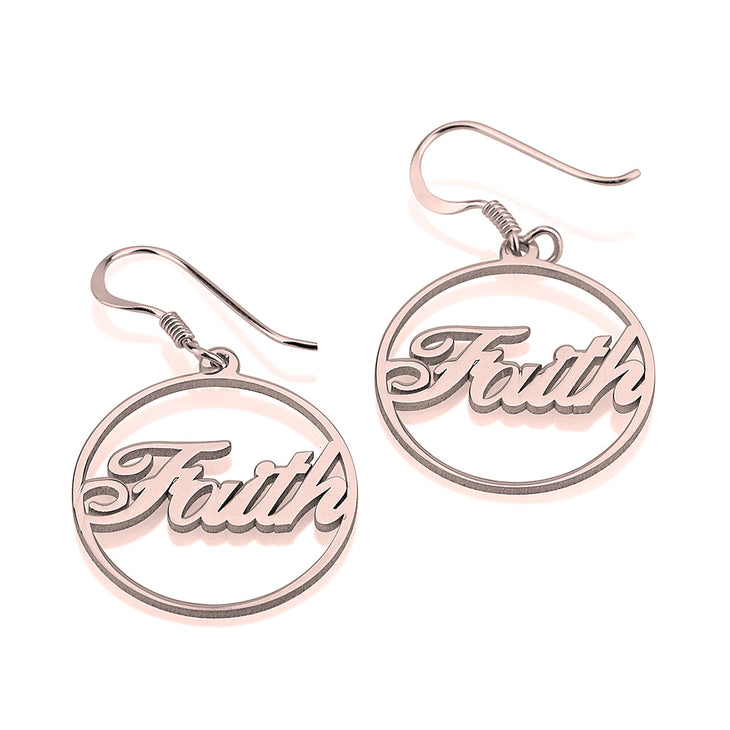 Name Hoop Earrings