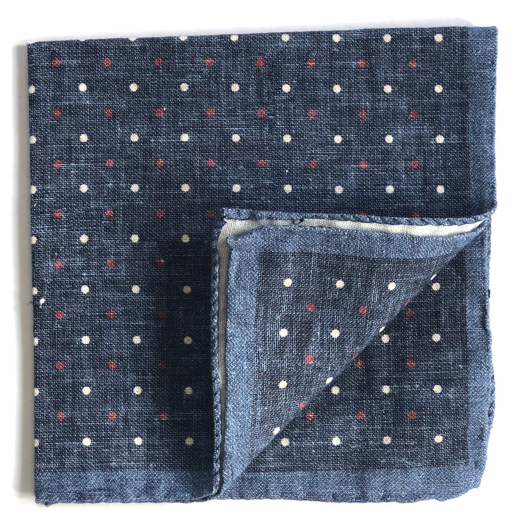 Pocket Square - Multi Spot Print