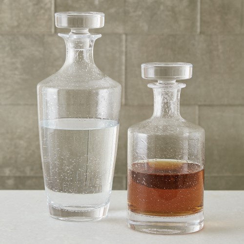 Seeded Glass Decanter - Tall