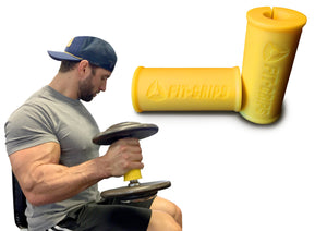 Fit Grips thick bar trainer bicep curls Fat Gripz by Core Prodigy