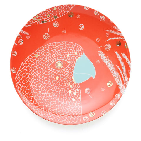 Dinner plate 28 cm, Bird Red