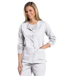 3507<br> WOMENS ALL DAY SNAP FRONT WARM UP SCRUB JACKET