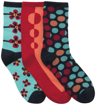 DOTMYFLOWER<br> 1-3pr pack of Crew Socks
