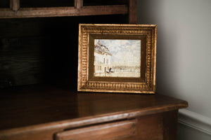 Antique French Gold Framed Print