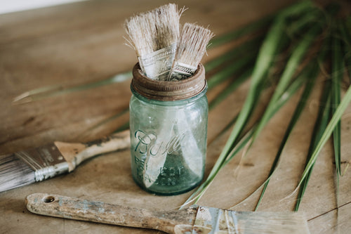 Blue Antique Ball Mason Jar