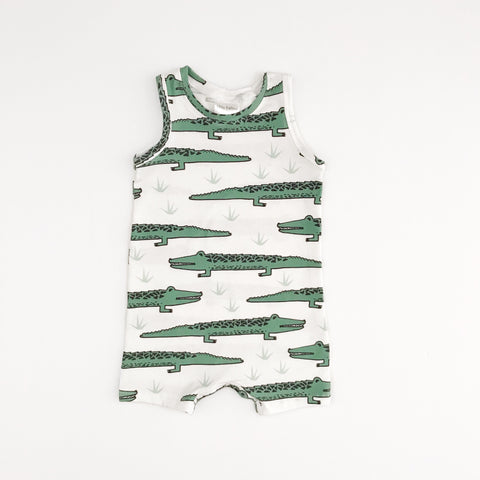 Tank Romper | Alligators