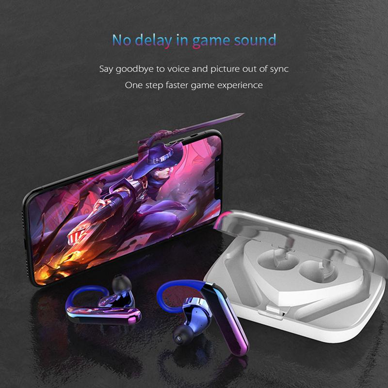 X6 Wireless Bluetooth 5.0 & IP7 Waterproof Double Moving Ring Earphones - oblevs