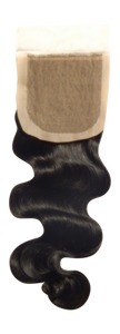 Sparkle Wave Silk Base Closure - Electric Cherry