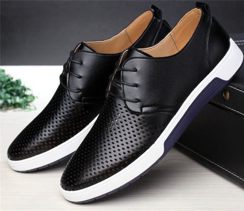 Summer Breathable Holes Luxury Flat Shoes