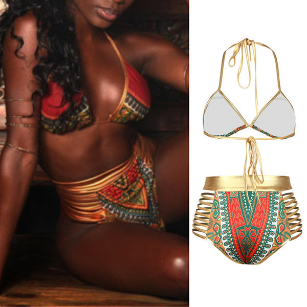 New African Print Two-Pieces Bikini Set