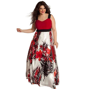 Plus Size Floral Print Boho Dress
